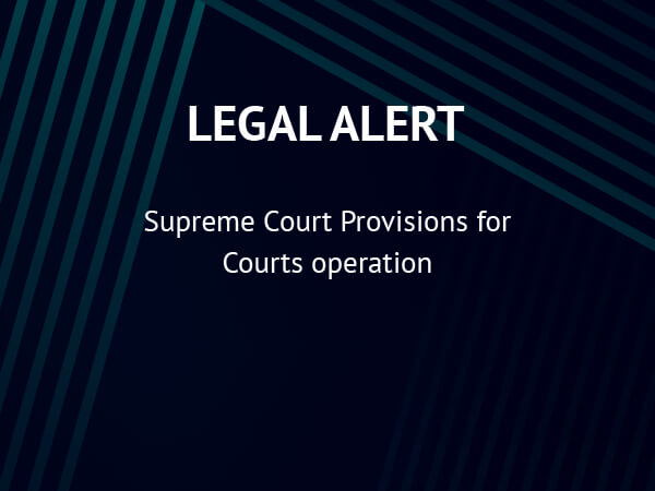 Supreme Court Provisions for Courts Operation