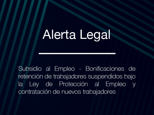 Alerta Legal – Subsidio al Empleo